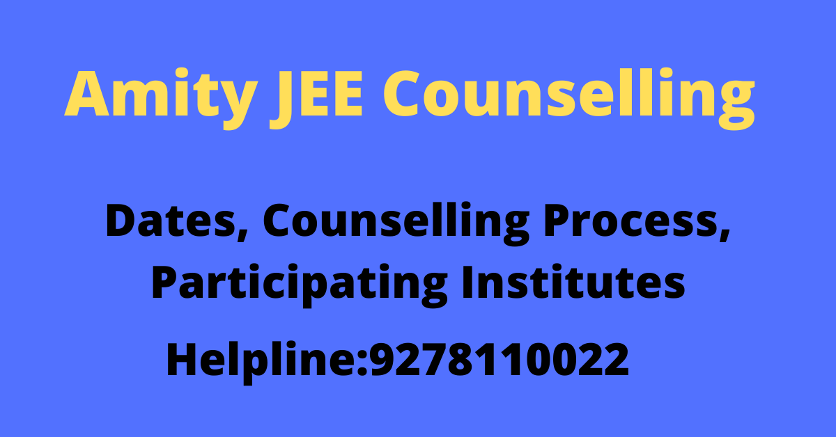 Amity JEE Counselling