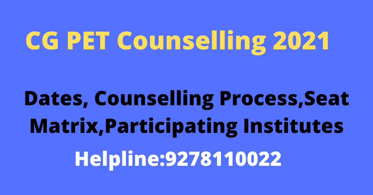 CG PET Counselling 2021