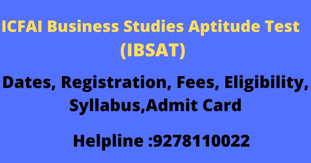 ICFAI Business Studies Aptitude Test (IBSAT)