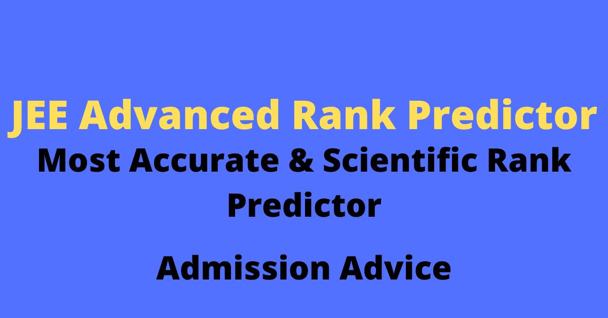 JEE Advanced Rank Predictor