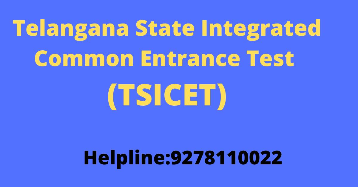 Telangana State Integrated Common Entrance Test (TSICET)